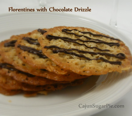 Chocolate Drizzled Florentines