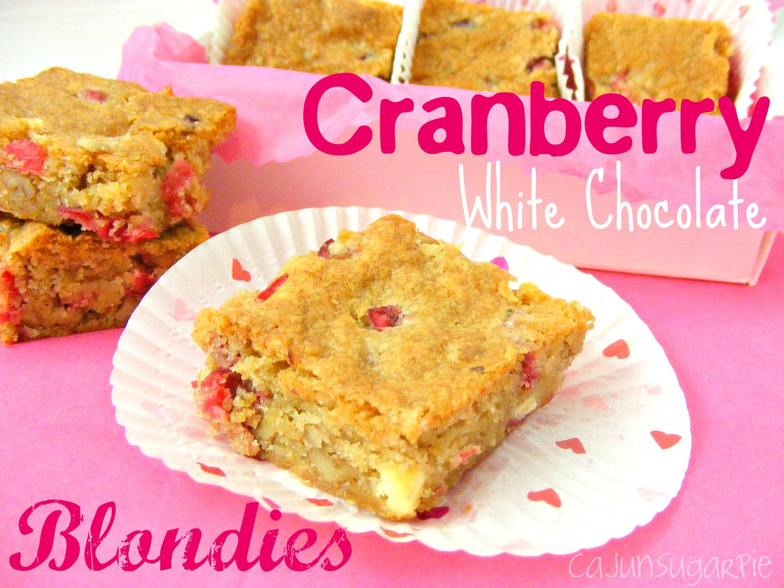 cranberry blondie